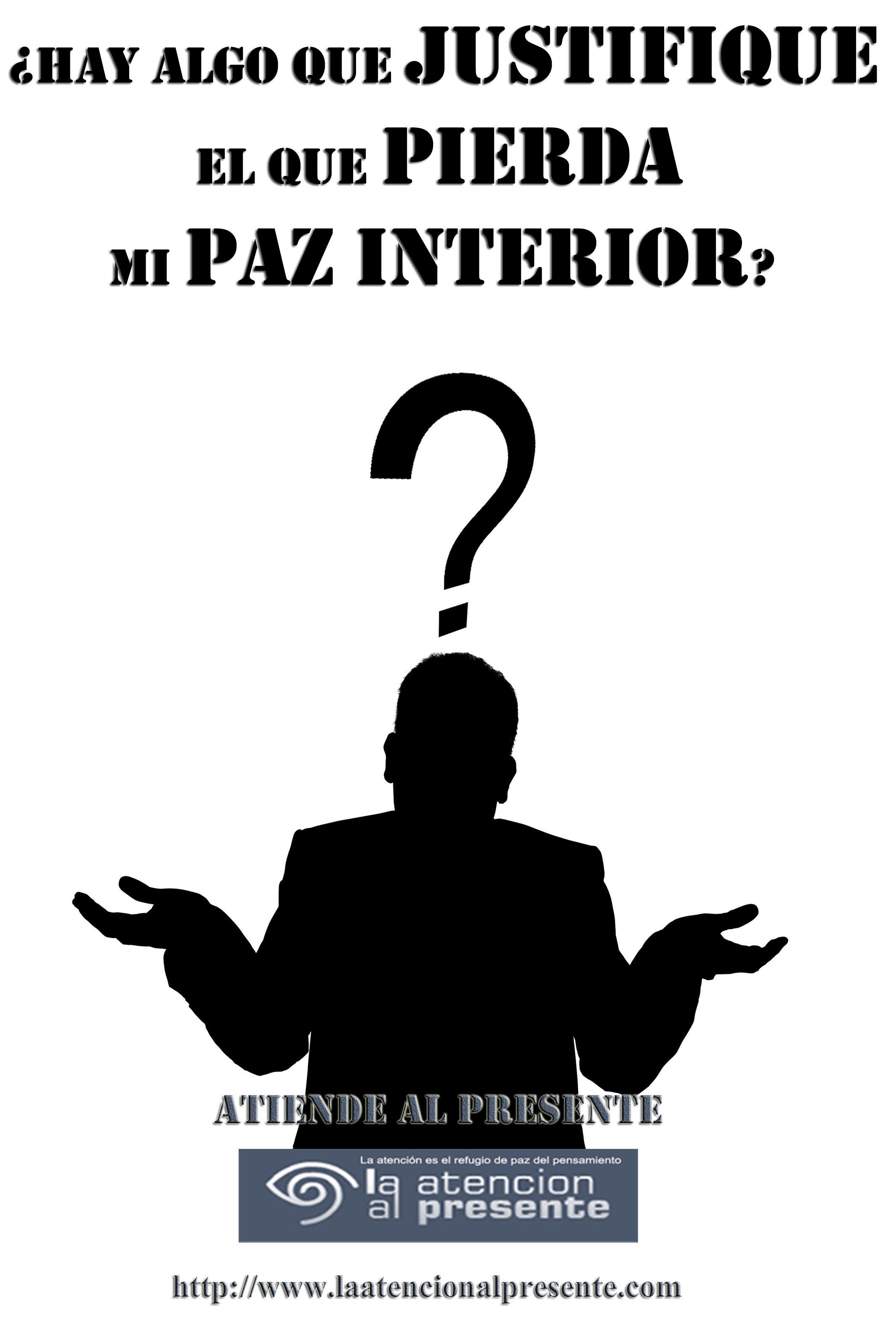 20 de diciembre Pepe Hay algo que justifique el que pierda mi paz interior