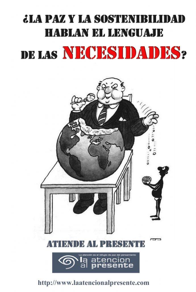 14 de octubre La PAZ y la SOSTENIBILIDAD hablan el lenguaje de las NECESIDADES min